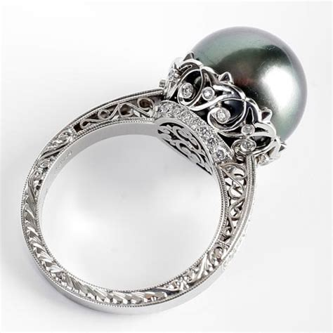 michael beaudry pearl ring this with a white pearl
