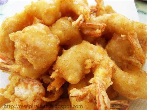 Minyak Goreng Dua Udang resep membuat udang goreng tepung