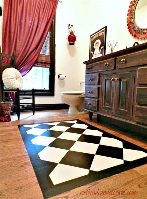 Paint  Rug   Wood Floor Redhead  Decorate
