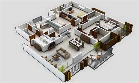 cara membuat gambar 3d di lantai gambar 3d denah rumah minimalis lantai satu rumah bagus