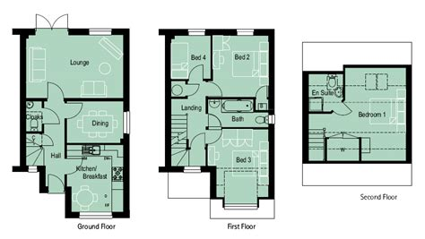 three story floor plans nell wooden 4 bedroom house plans uk