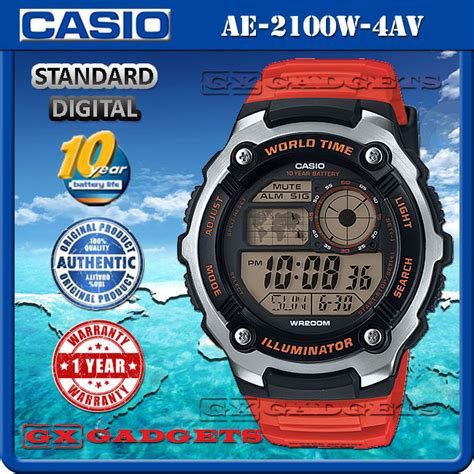 Casio Ae 2100 4av casio ae 2100w 4av standard digital end 1 29 2019 1 23 am