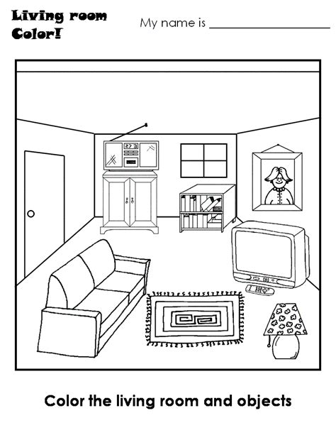 s coloring lounge books living room coloring pages and print for free
