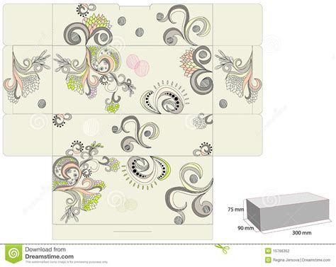 templates for decorative boxes template for decorative box stock photography image