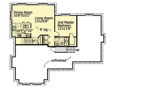 the nanny floor plan lower level in law or nanny suite 90179pd
