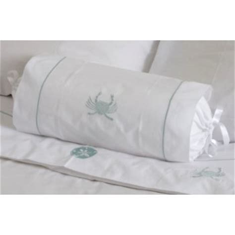 bolster bed pillow aqua crab bolster bed pillow
