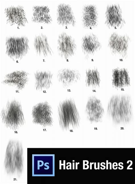 Hairstyle Photoshop Brushes by Mens Hair Brushes Photoshop Custom Photoshop Hair