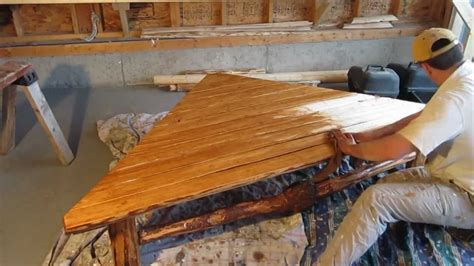 building  rustic split log coffee table youtube