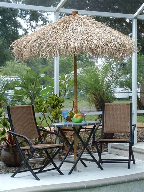 Used Patio Umbrella Bamboo Pole With Wide Enough Diameter To Fit Umbrella Pole In And Replace The Faded Primary