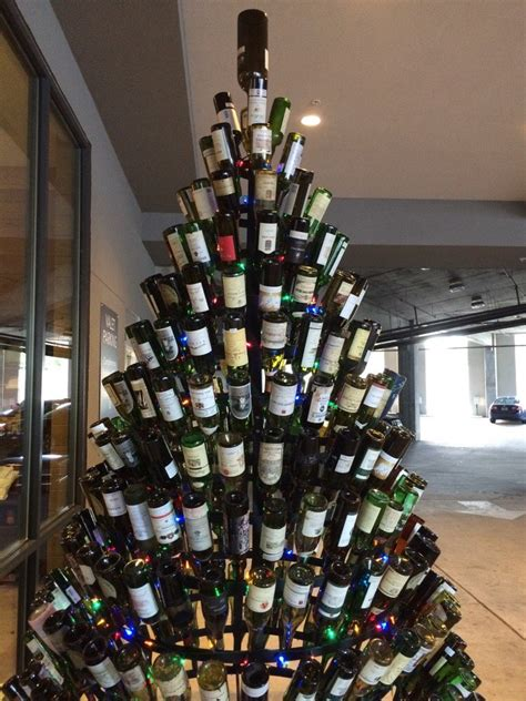 rum bottle xmas tree wine wankers wine bottle tree carpark the wine wankers