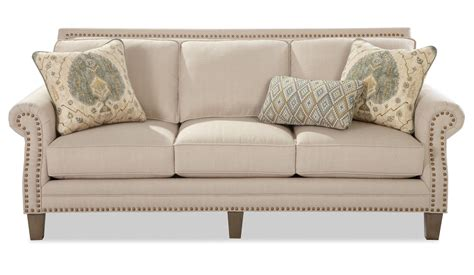 sofa with nailheads transitional sofa with brass nailheads by craftmaster