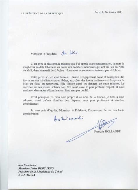 Exemple De Lettre Condoleance Lettre De Condol 233 Ances Du Pr 233 Sident Fran 231 Ais Au Pr 233 Sident