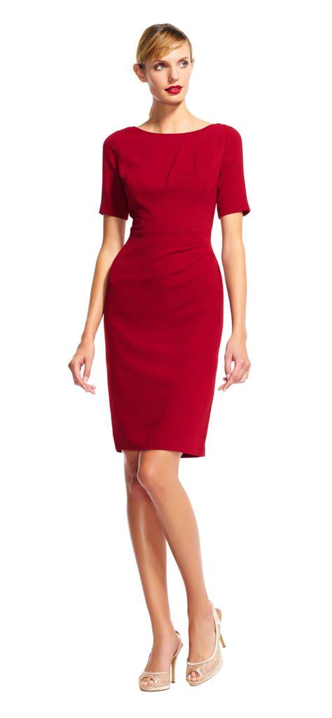 Sleeve Sheath Dress sleeve sheath dress with draped details