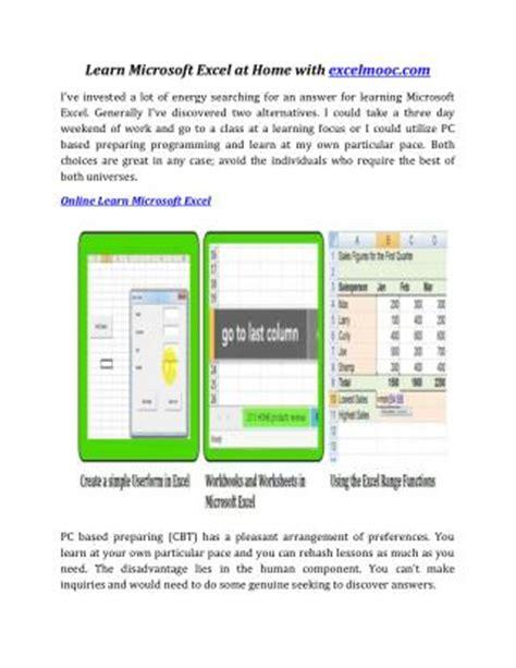 excel tutorial powerpoint presentation ppt advantages of taking online excel tutorials