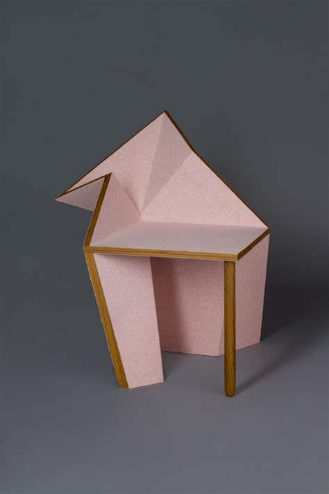 Origami Furniture Design - a collection of geometric furniture and decorative objects