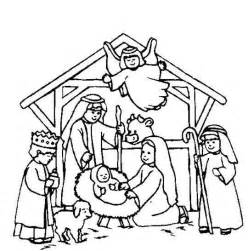 free nativity scene template coloring 228 rben