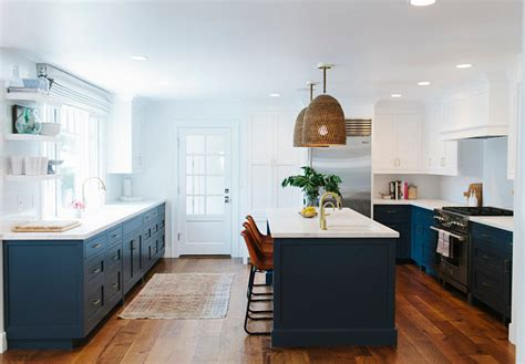 before and after two toned kitchen reno home bunch interior design ideas