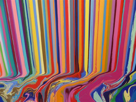 """Colorfall"" by Ian Davenport at Paul Kasmin Gallery"