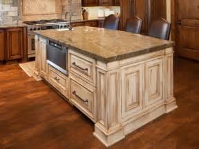 Kitchen cabinets and white kitchen island under efficient kitchen
