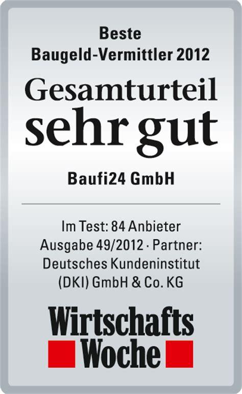 beste bank immobilienfinanzierung wirtschaftswoche baufi24 test deutschlands beste