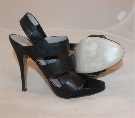 Heels Valentino Import 37 valentino black leather strappy platform heels 37 for sale at 1stdibs