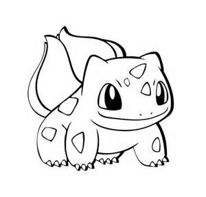 Bulbasaur Pokemon Black And White Sketch Coloring Page sketch template