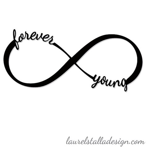 infinity smbol infinity sign with the words forever and as part of