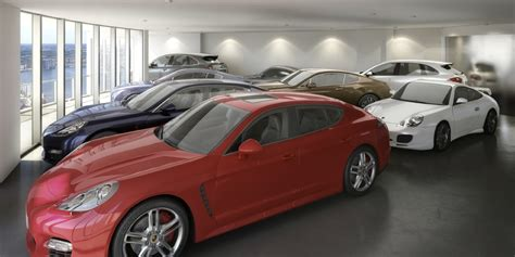 Garage With Living Space by Porsche Design Penthouse Gil Dezer Luxury Car Storage