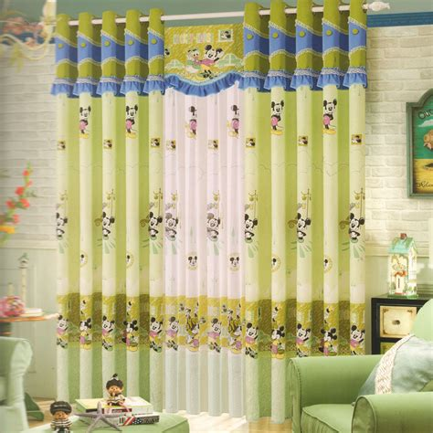 micky mouse curtains mickey mouse green curtains for kids rooms