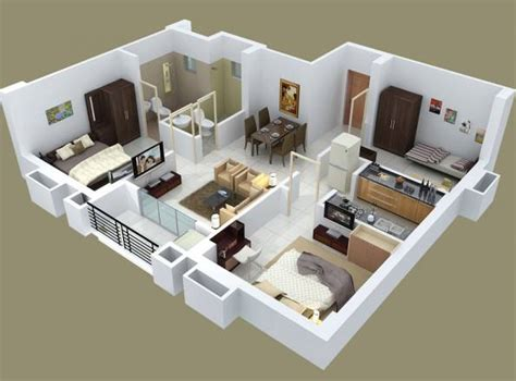 home design for joint family 12 denah rumah 3 kamar minimalis 3d 2017