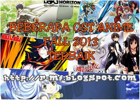 film anime terbaik 2013 beberapa ost anime fall 2013 terbaik restumf