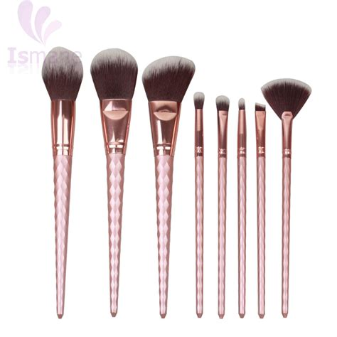 Brush Gold Set 8 Set ismine gold 8 pcs unicorn brush makeup brush set hair eyebrow eyeshadow powder brush