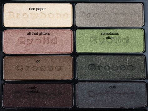 n comfort zone palette with corresponding mac