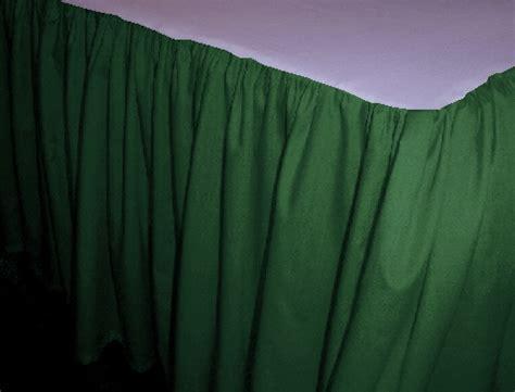 green bed skirt hunter green dustruffle bedskirt queen size