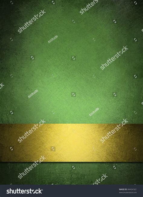 gold wallpaper ireland green background gold ribbon old vintage stock