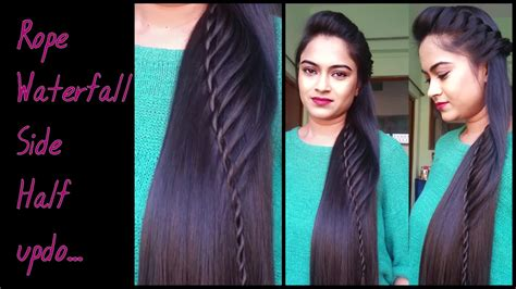 hairstyles for medium length hair for indian party hairstyles for medium to long hair rope waterfal half