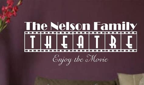 home movie theater wall decor home theatre personalized vinyl wall art sticker decal