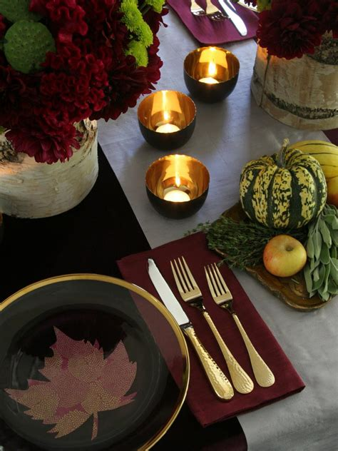 How Some Of Our Favorite Celebrate Thanksgiving by Thanksgiving Table Setting Ideas Hgtv