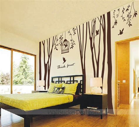 decals for home decorating thick forest tree and birds wall sticker home decorating photo 32499002 fanpop