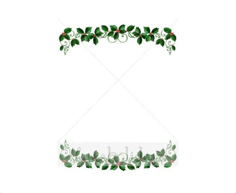 card frames templates pine boughs 19 border templates free psd vector eps png