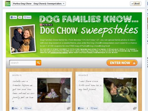 Dog Sweepstakes - purina dog chow sweepstakes