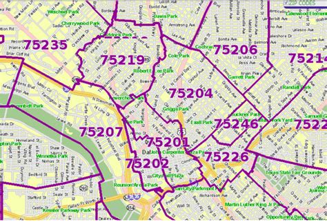 printable zip code map dallas tx dallas zip code map zip code map