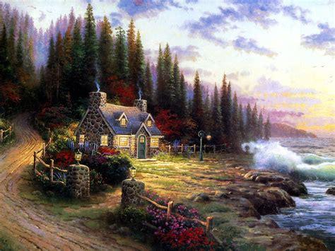 Thomas Kinkade Wallpapers House Artist