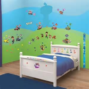 Paw Patrol Room Decor Paw Patrol Room Decor Wall Sticker Kit Walltastic Official Ebay