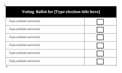 Election Ballot Template For Word free ballot template word just b cause