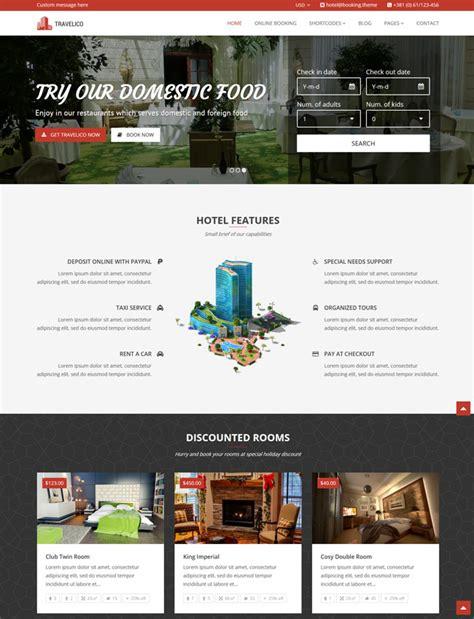 wordpress themes presentation travelico hotel booking presentation wp theme useful