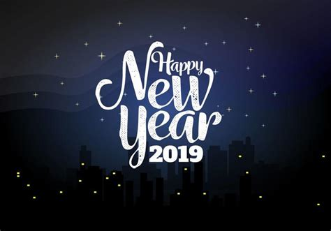 new year in 2019 happy new year 2019 background vector illustration