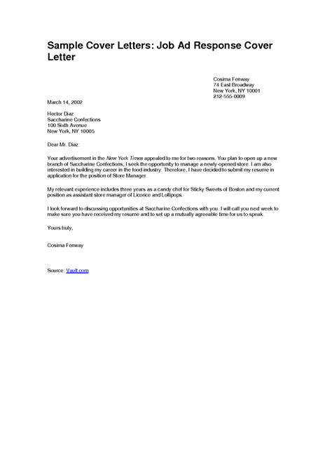 ideas of cover letter for a part time job for template