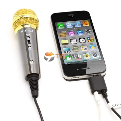 Smartphone Mini Mobile Karaoke Microphone For Iphone Android And Pct black mini handheld 3 5mm karaoke mic condenser microphone for pc iphone android tablets