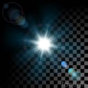 light vector dazzling light effect black and white background vector
